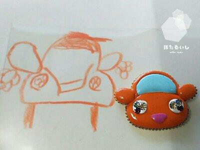 子供のイラストからも、グルーデコ作品が作れます🎵